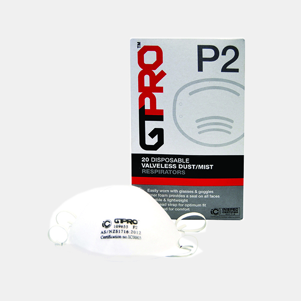 GTPRO Dust Mask P2 without valve 20pk